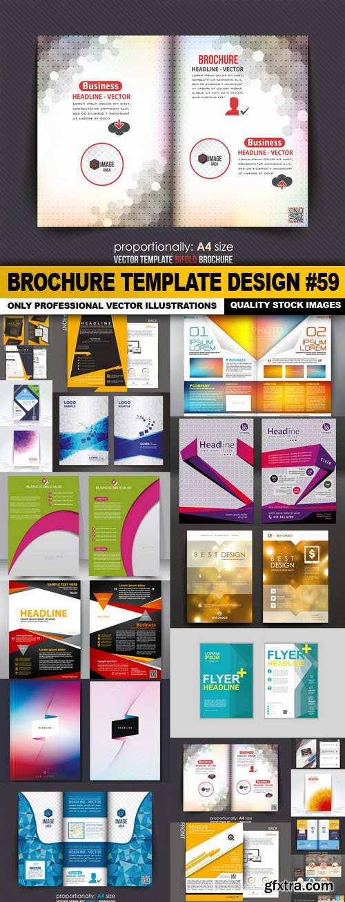Brochure Template Design #59 - 20 Vector