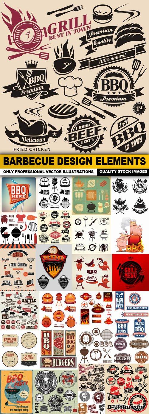 Barbecue Design Elements - 25 Vector