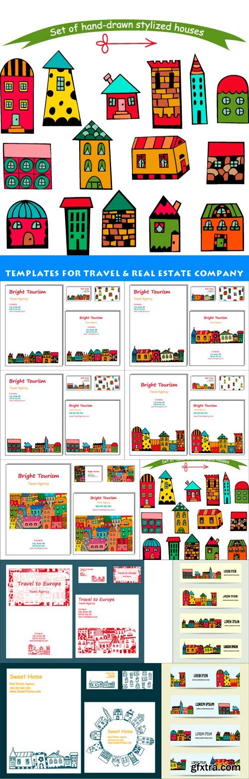 templates for travel & real estate company 10X EPS