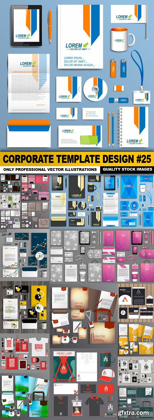 Corporate Template Design #25 - 20 Vector