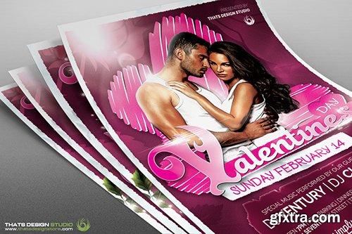 CreativeMarket Valentines Day Flyer+Menu Bundle V7 492059