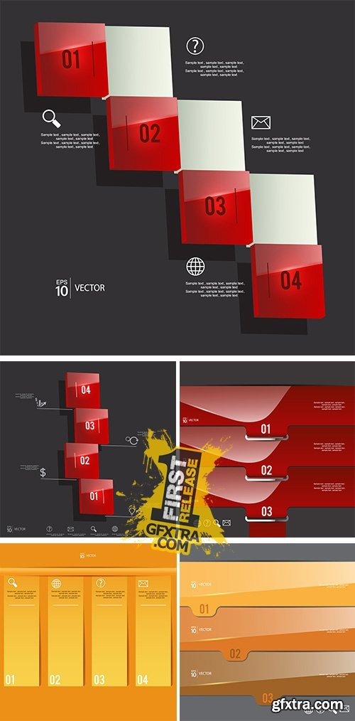Stock: Infographic steps