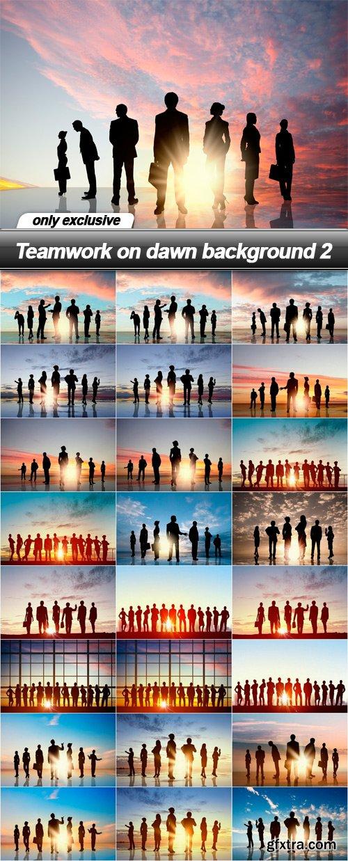 Teamwork on dawn background 2 - 25 UHQ JPEG
