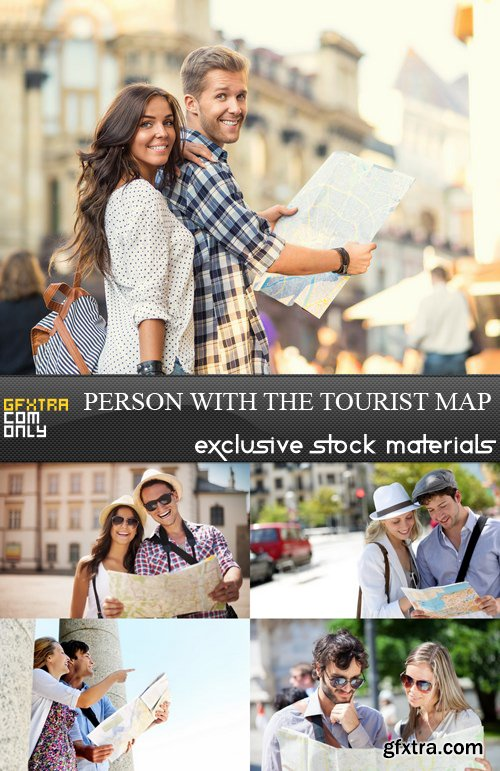 Person with the Tourist Map - 5 UHQ JPEG