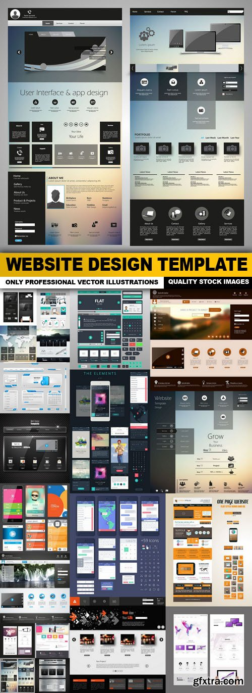 Website Design Template - 20 Vector
