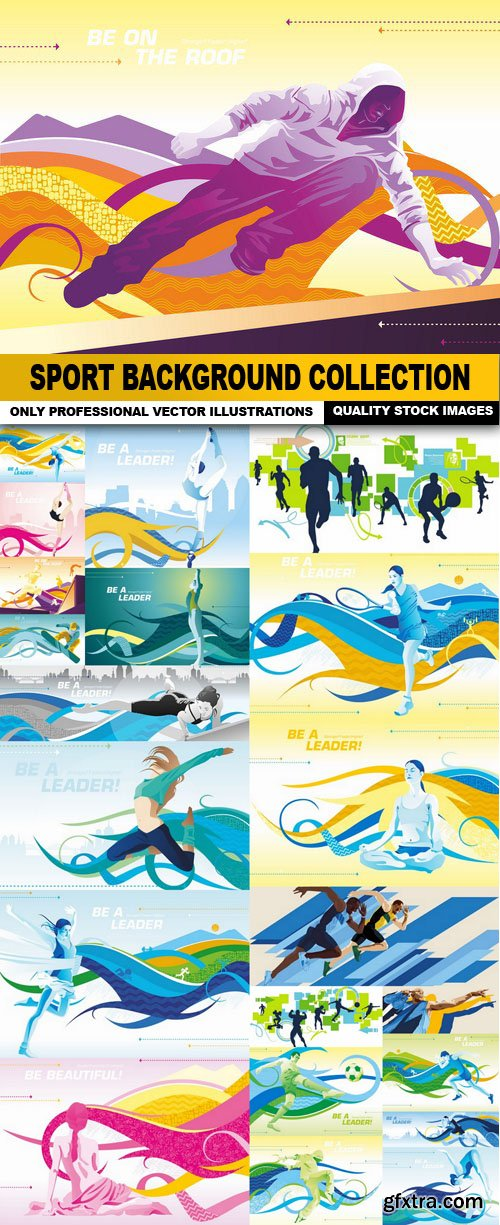 Sport Background Collection - 25 Vector