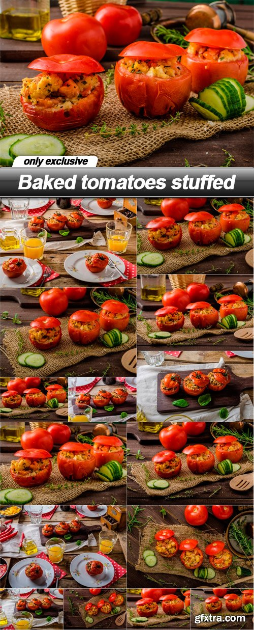 Baked tomatoes stuffed - 15 UHQ JPEG