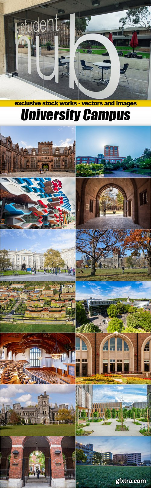 University Campus - 15x JPEGs