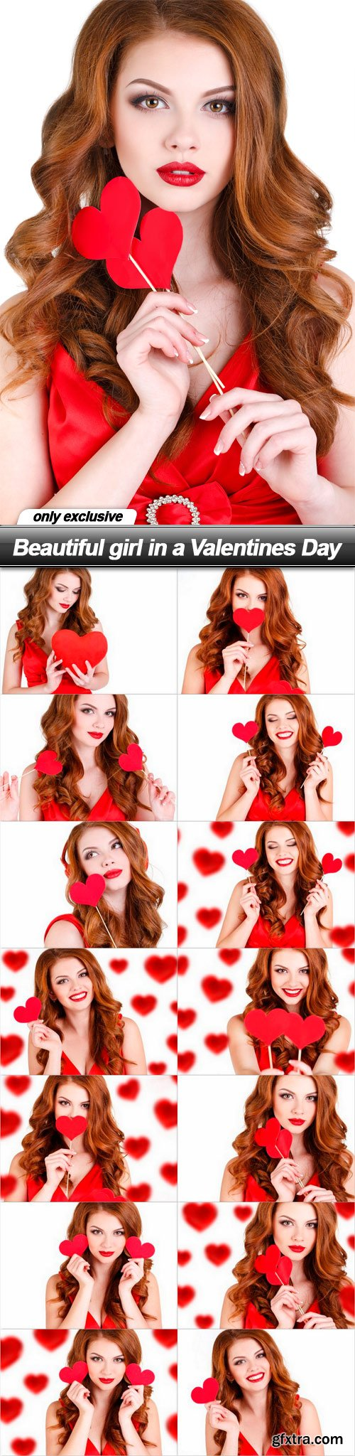 Beautiful girl in a Valentines Day - 15 UHQ JPEG