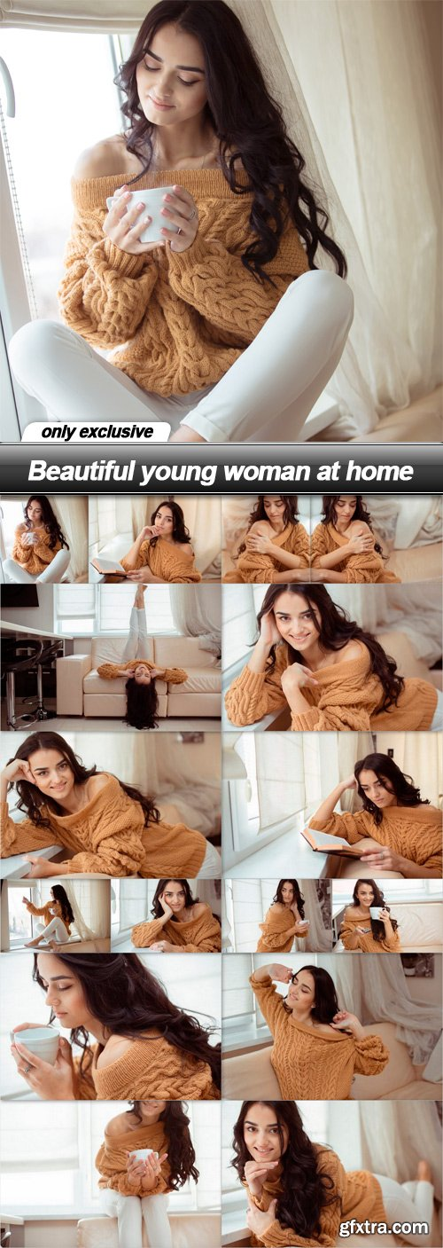 Beautiful young woman at home - 16 UHQ JPEG