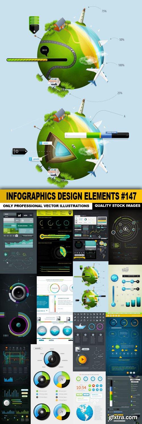 Infographics Design Elements #147 - 15 Vector