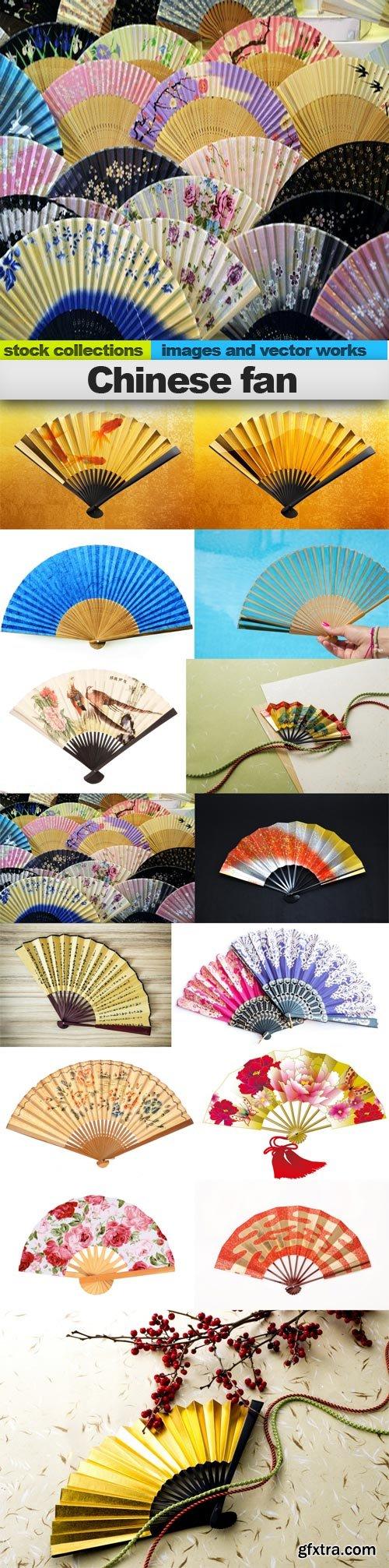 Chinese fan, 15 x UHQ JPEG