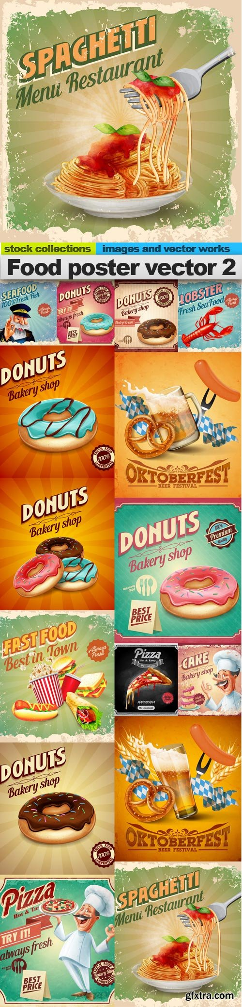Food poster vector 2, 15 x EPS