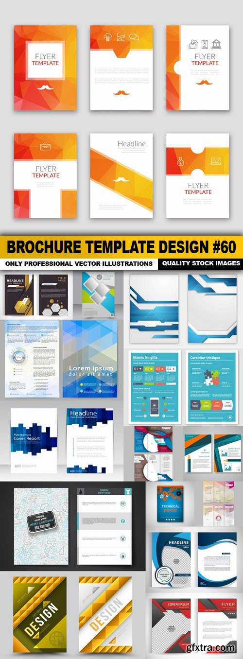 Brochure Template Design #60 - 15 Vector