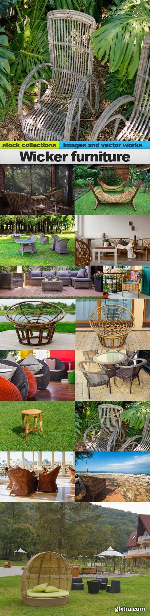 Wicker furniture, 15 x UHQ JPEG