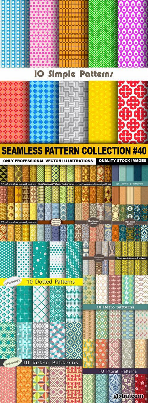 Seamless Pattern Collection #40 - 15 Vector