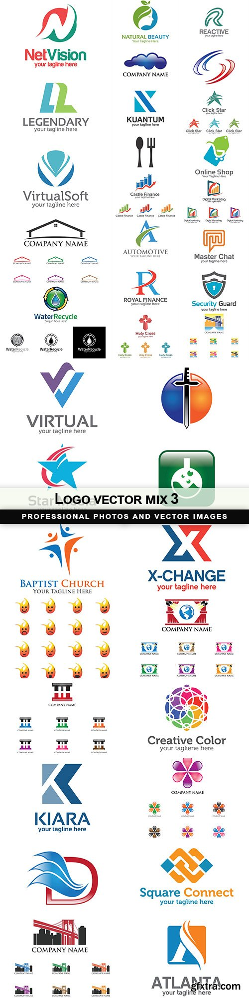 Logo vector mix 3