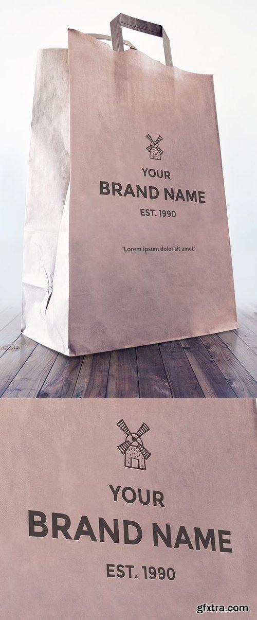 Photoshop Mockup - Logo on Paper Bag