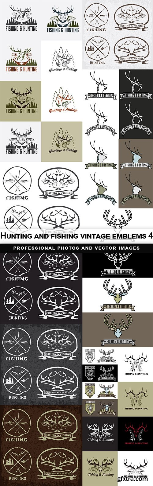 Hunting and fishing vintage emblems 4
