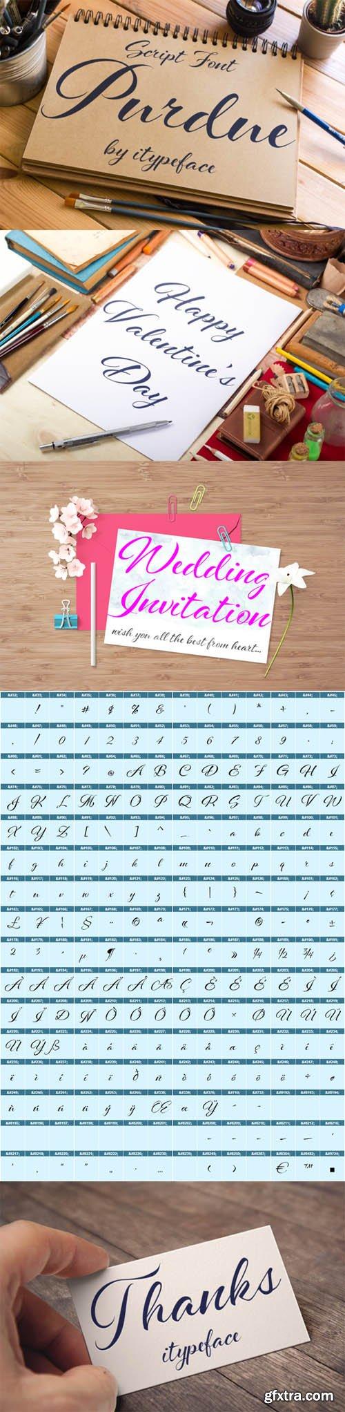CM - Purdue Script Font 499140