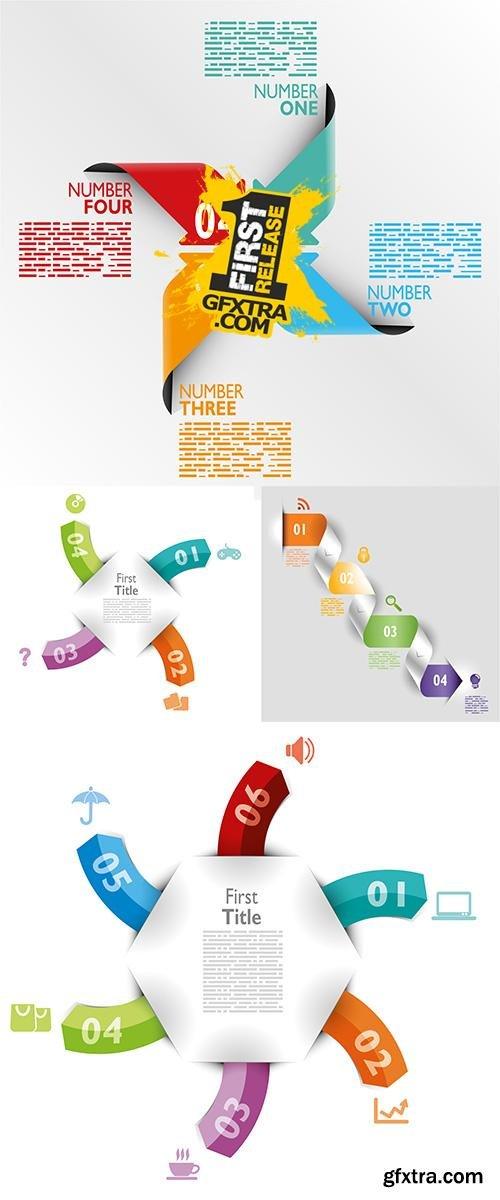 Stock: Infografica esempi frecce colorate