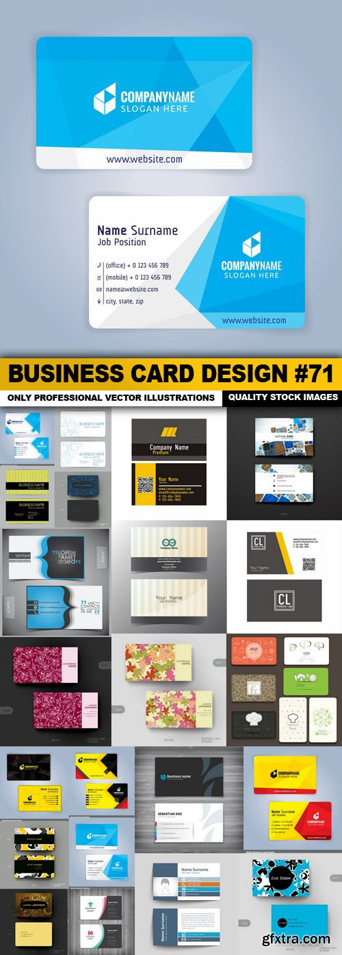 Business Card Design #71 - 22 Vector