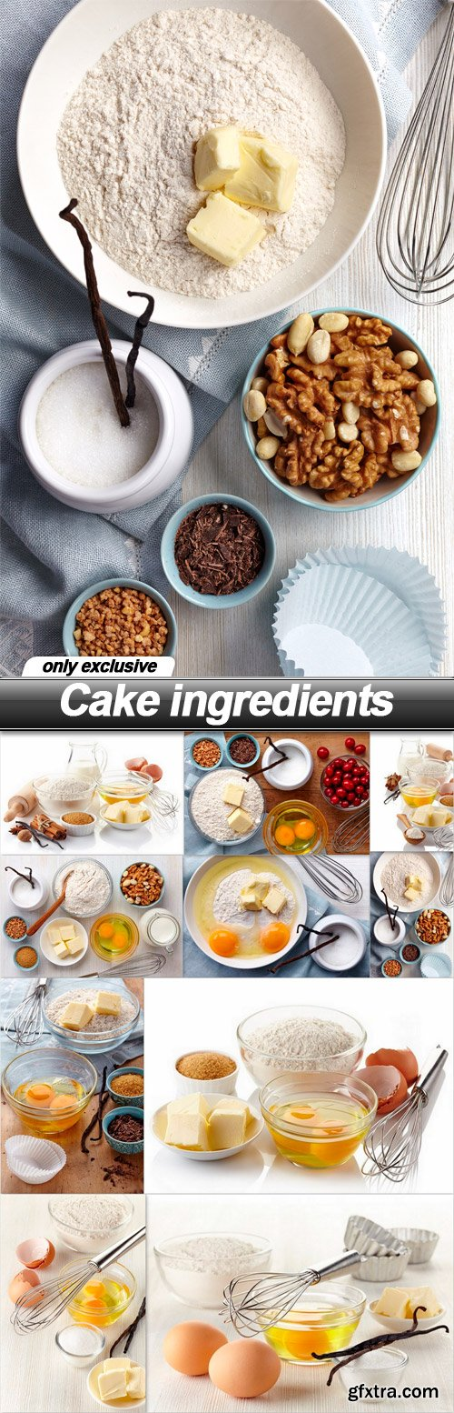 Cake ingredients - 10 UHQ JPEG