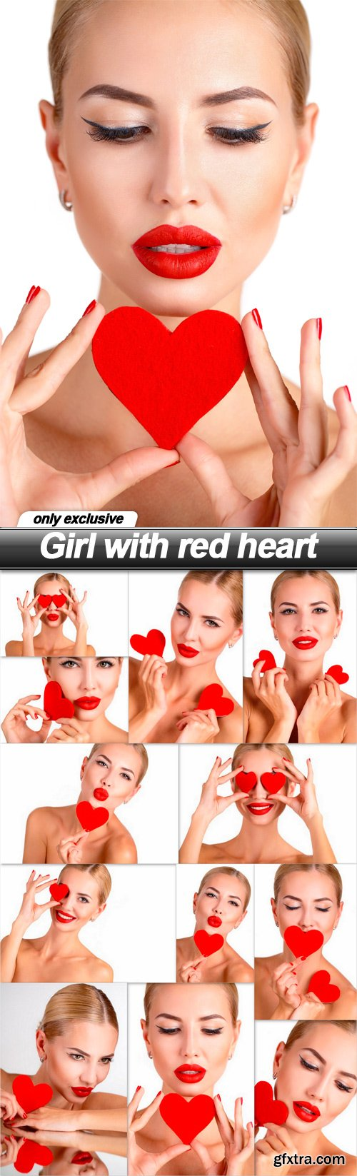 Girl with red heart - 12 UHQ JPEG