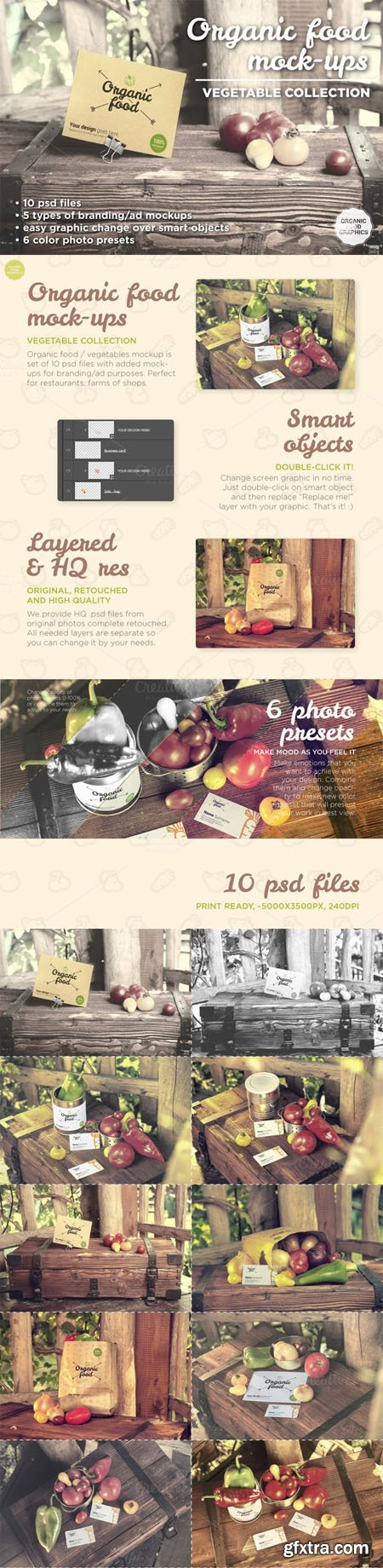CM - Organic food mockups - vegetables 499105