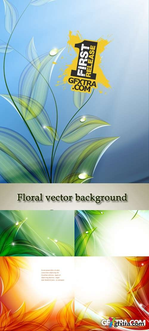 Stock: Floral vector background