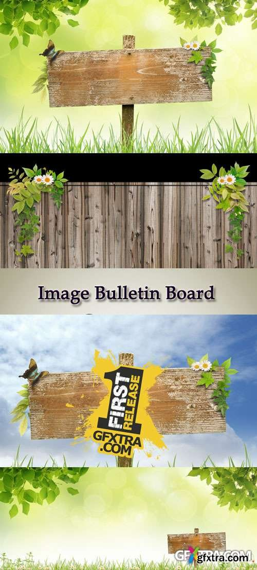 Stock Photo: Image Bulletin Board