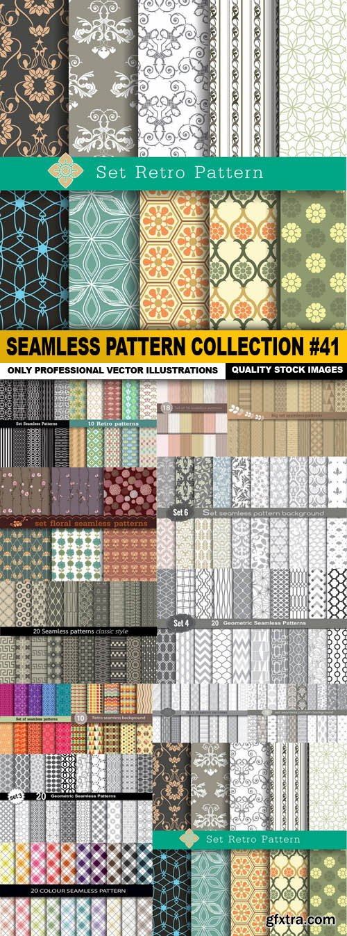 Seamless Pattern Collection #41 - 15 Vector