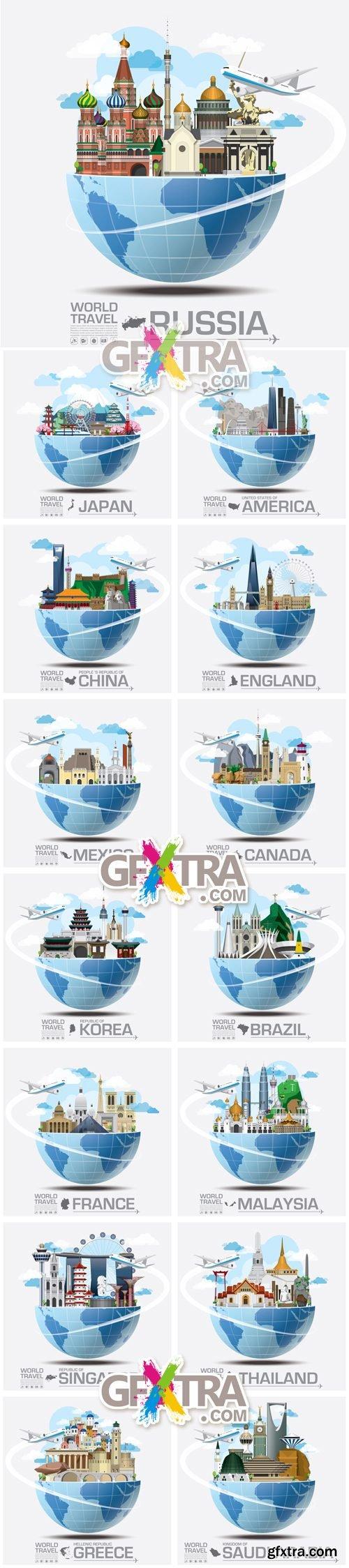 World Travel Concept Vector