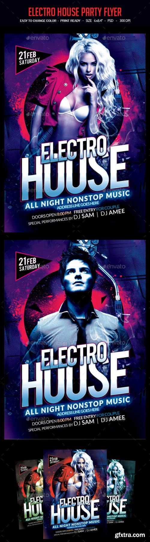 GR - Electro House Party Flyer 14469218