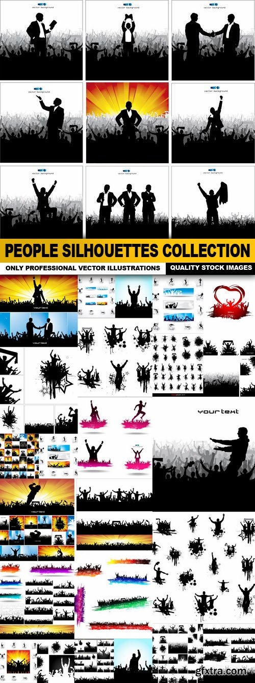 People Silhouettes Collection - 25 Vector