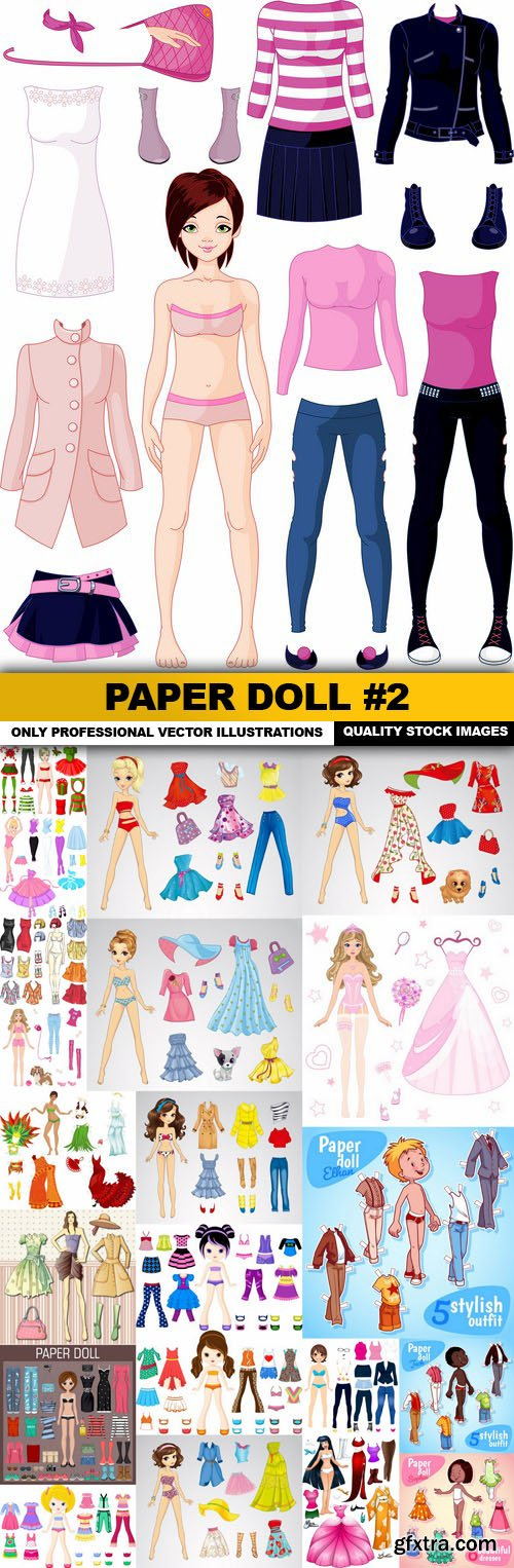Paper Doll #2 - 22 Vector