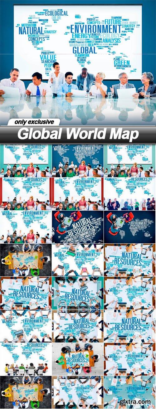 Global World Map - 25 UHQ JPEG