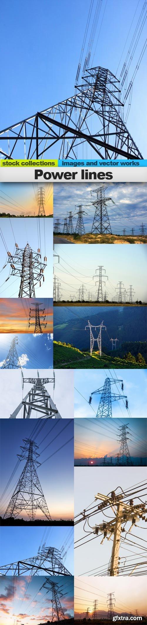 Power lines, 15 x UHQ JPEG
