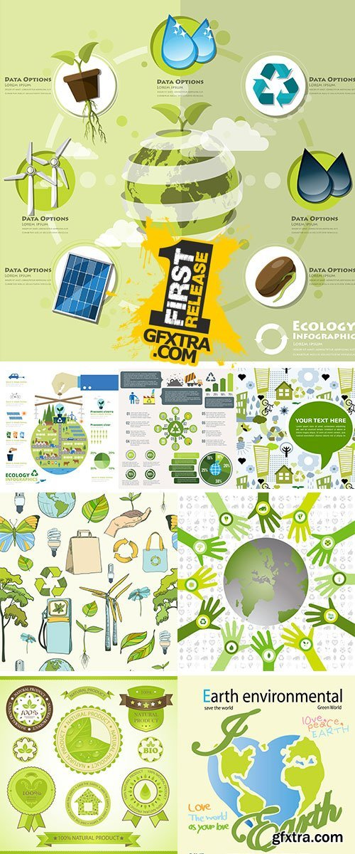 Stock: Ecology And Environment Infographic Element