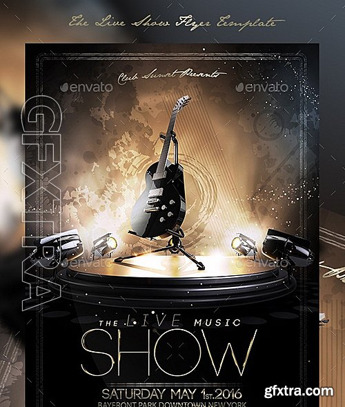 GraphicRiver - The Live Show Flyer Template 12343034