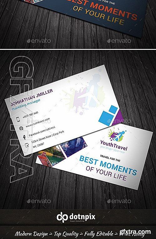GraphicRiver - Travel Agency Business Card 9198433
