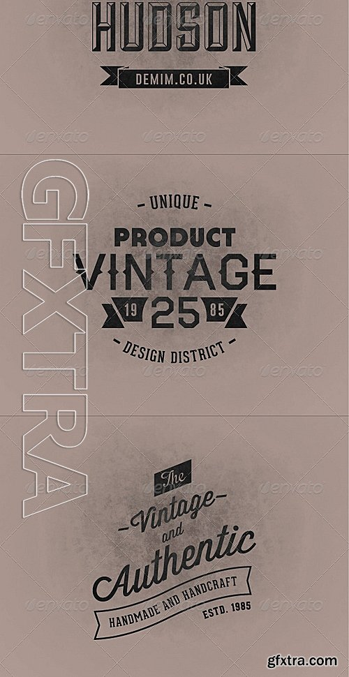 GraphicRiver - Vintage Badges Vol1 5839636