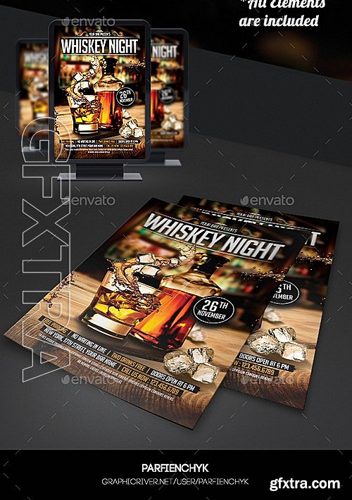GraphicRiver - Whiskey Night Flyer Template 8937625