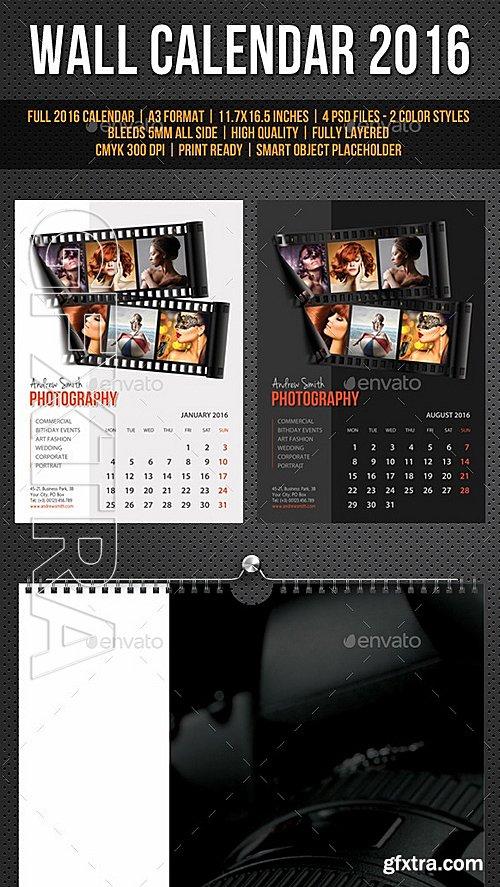 GraphicRiver - Wall Calendar A3 2016 V18 11736607