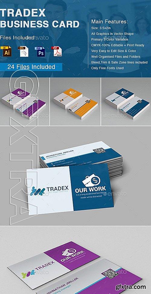 GraphicRiver - Tradex Business Card 10863934