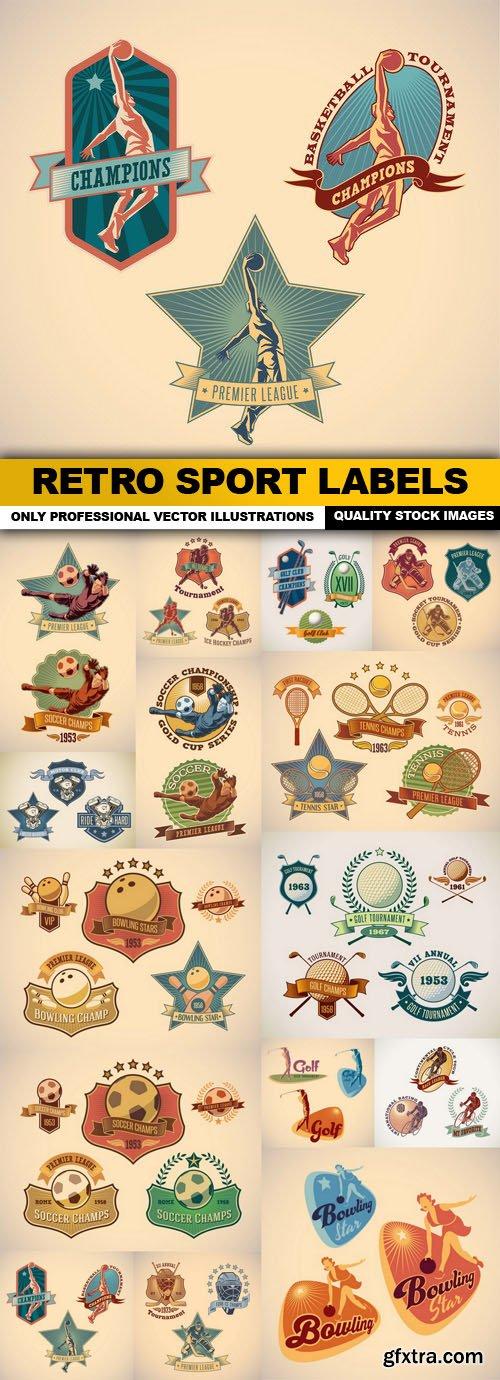 Retro Sport Labels - 15 Vector