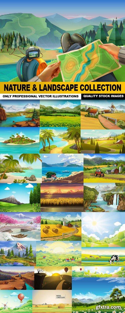 Nature & Landscape Collection - 26 Vector