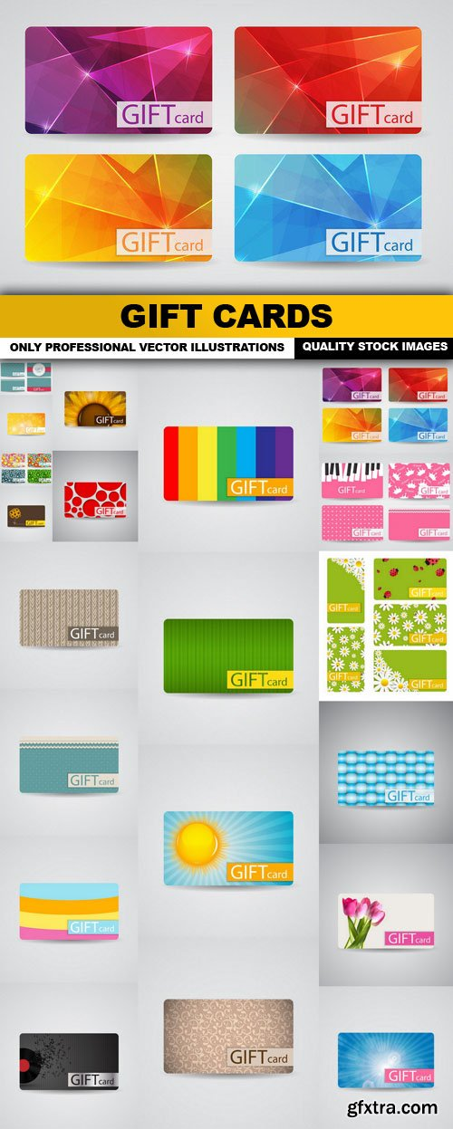 Gift Cards - 20 Vector