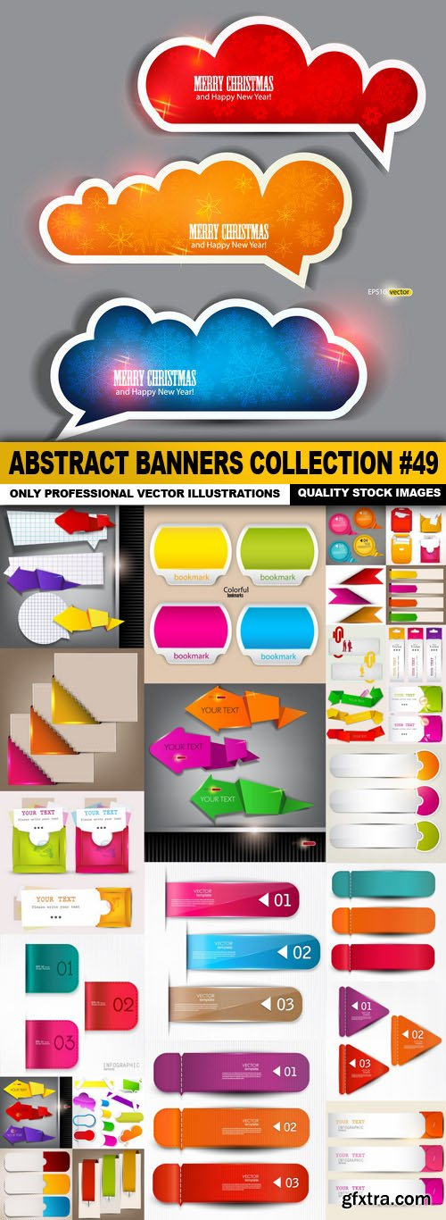Abstract Banners Collection #49 - 25 Vectors