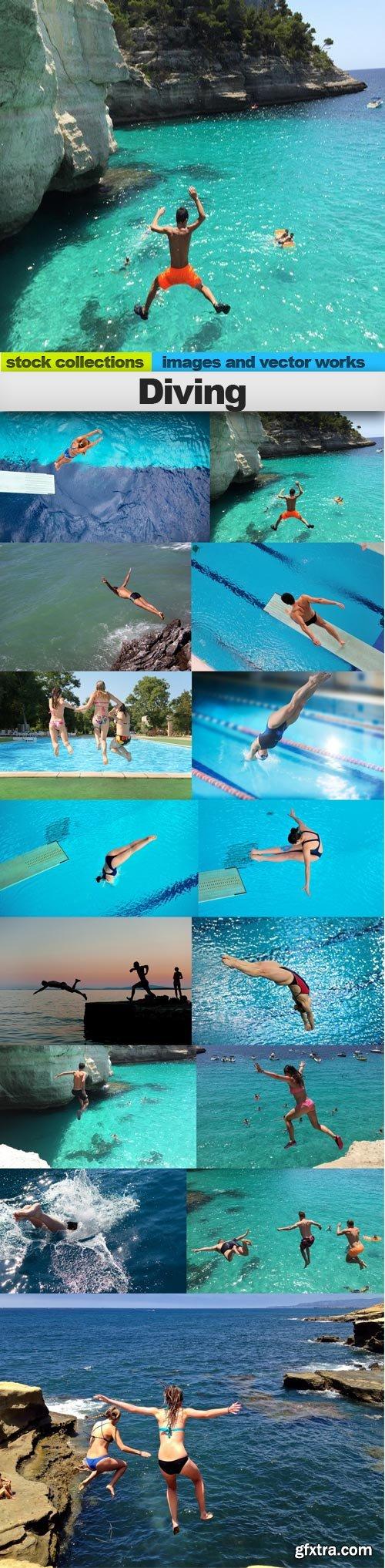 Diving, 15 x UHQ JPEG